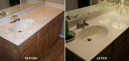Refinished Marble Sink In Richardson